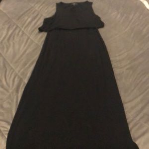 Black Maxi with back cutout